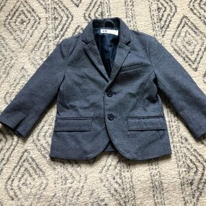 {H&M} Blue Blazer With Elbow Patches